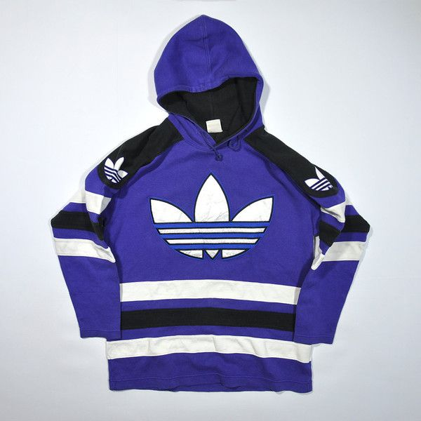 Rare Vintage 80s 90s ADIDAS Hoodie Sweatshirt Sweater Retro ADIDAS... ❤  liked on Polyvore featuring tops b47fd632766d