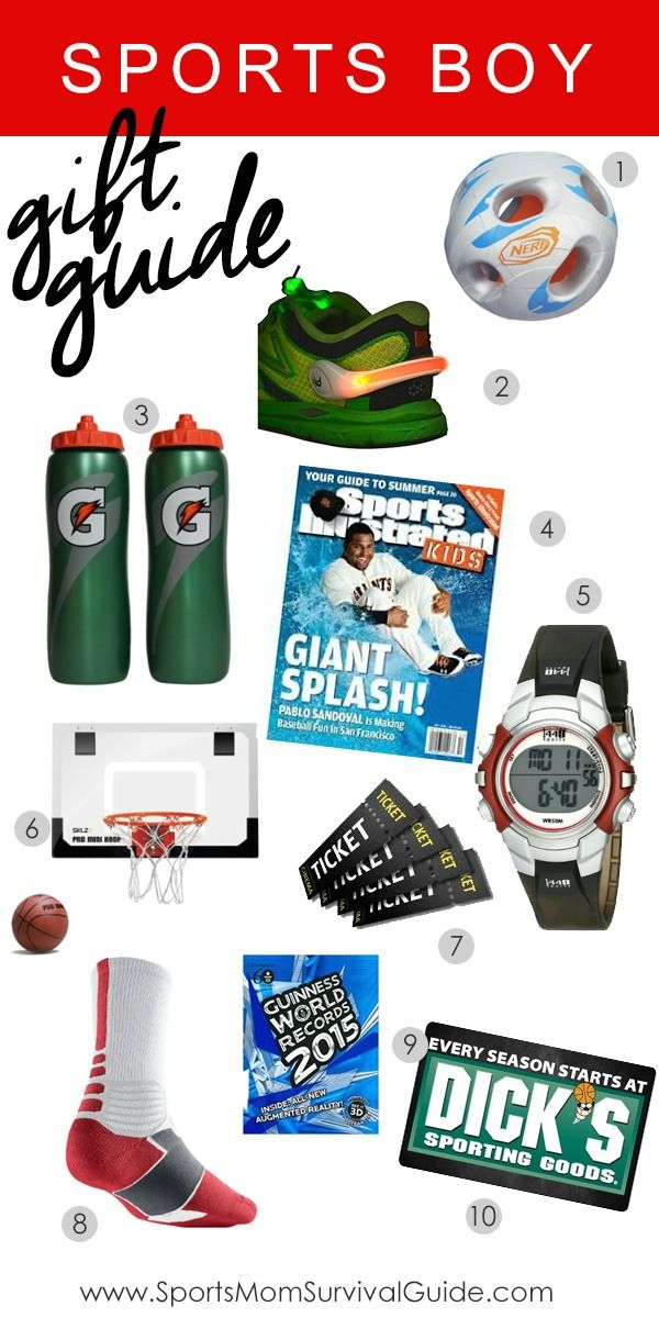 Sports Boy Holiday Gift Guide Holiday gift guide, Boys and Holidays