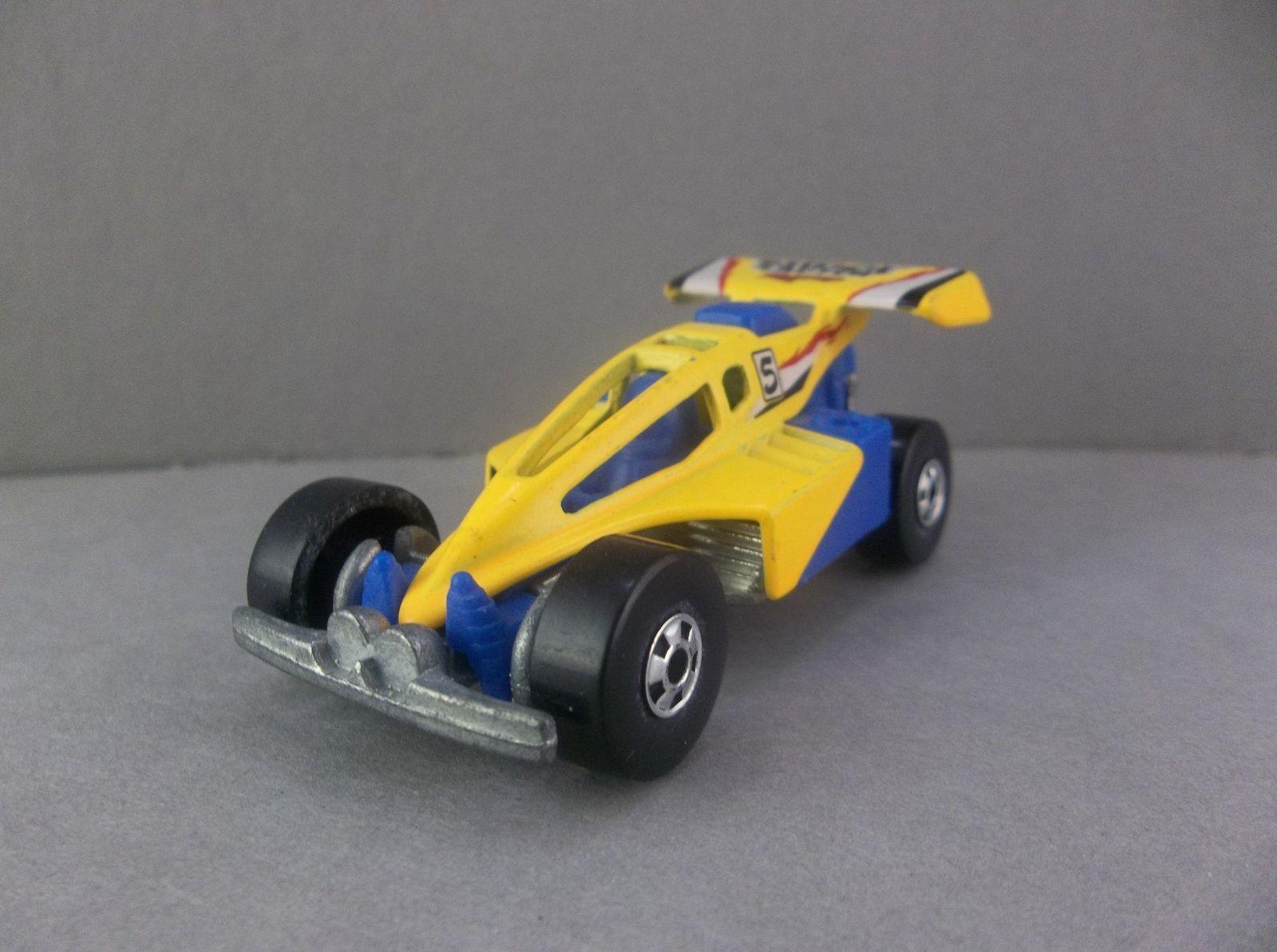 Hot Wheels 1991 Shock Factor Racing Yellow Blue Racecar Hotwheels Shockfactor Racecar Yellow Blue Diecast Bonanza Hot Wheels Race Cars Yellow