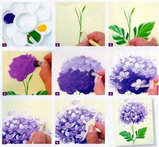 Hydrangea Tutorial Flower Painting Flower Art Art Painting