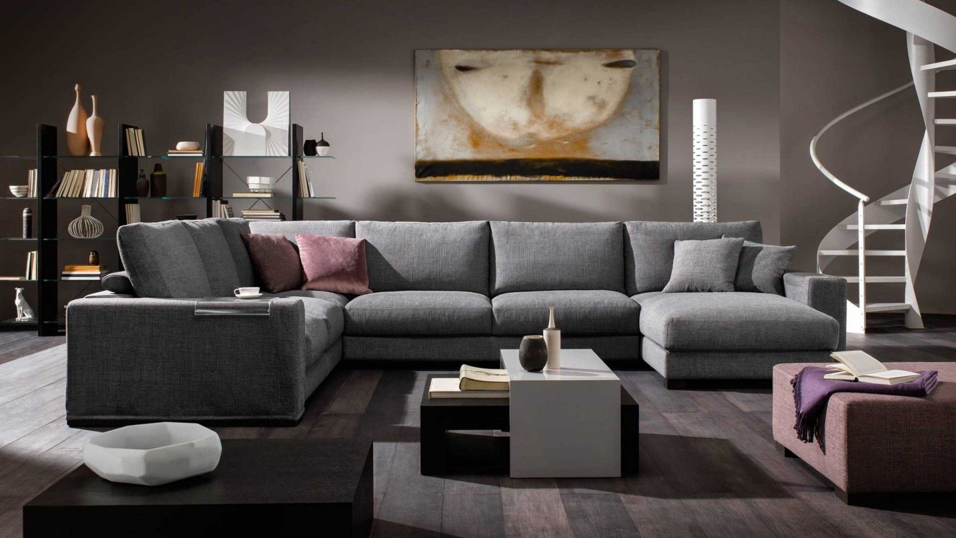 Modular sofa domino italian modern furniture from natuzzi italia