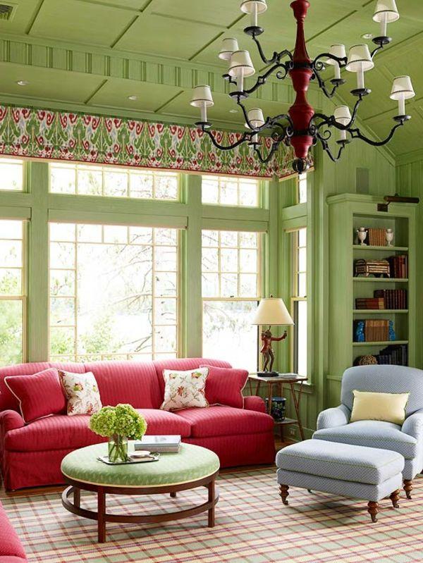farbideen-wohnzimmer-grün-pink-grau.jpg (600×799)   D. Estilo ...