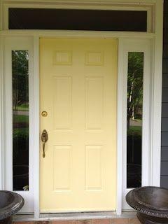 Benjamin Moore Yellow Front Door