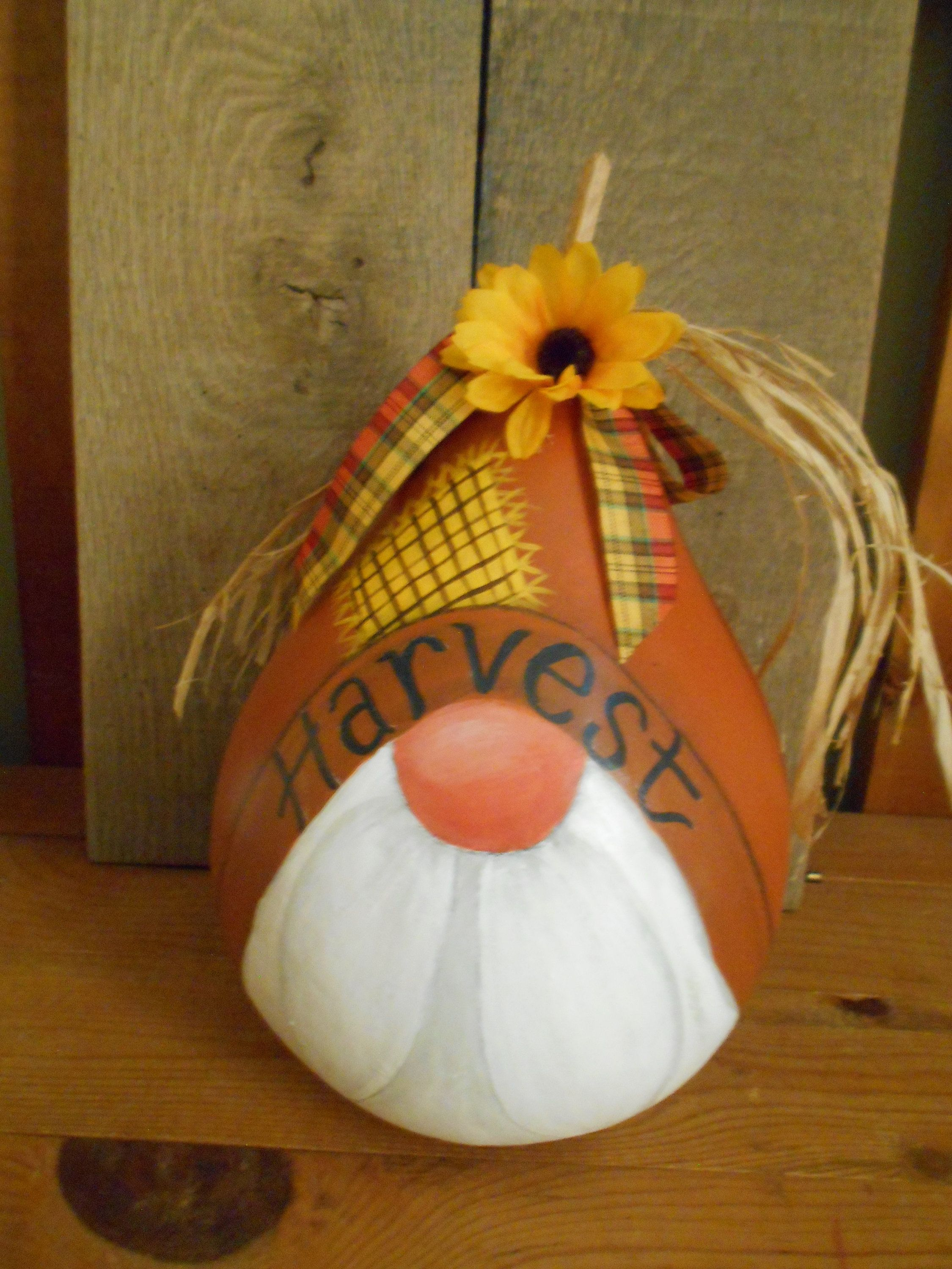 Gourd Fall Harvest Gnome Hand Painted Etsy In 2021 Hand Painted Gourds Painted Gourds Fall Gourds