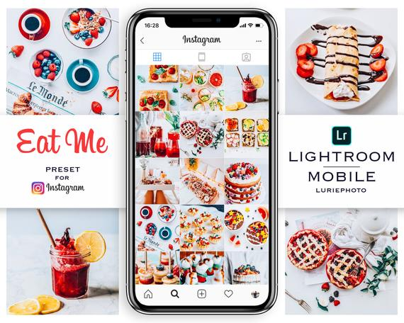 EAT ME 2 Mobile Lightroom Preset Food Blogger Lightroom