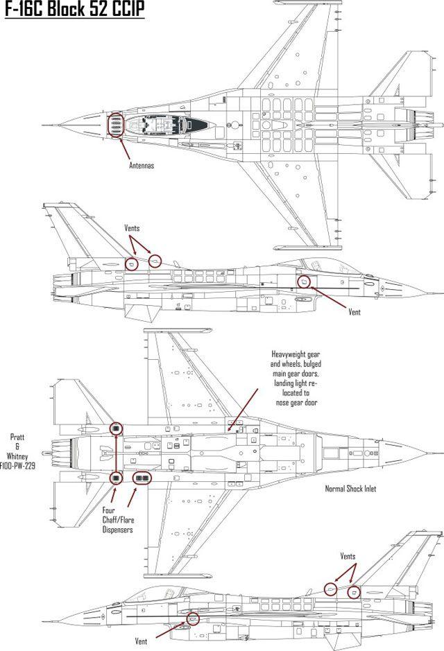 F 16 Diagram