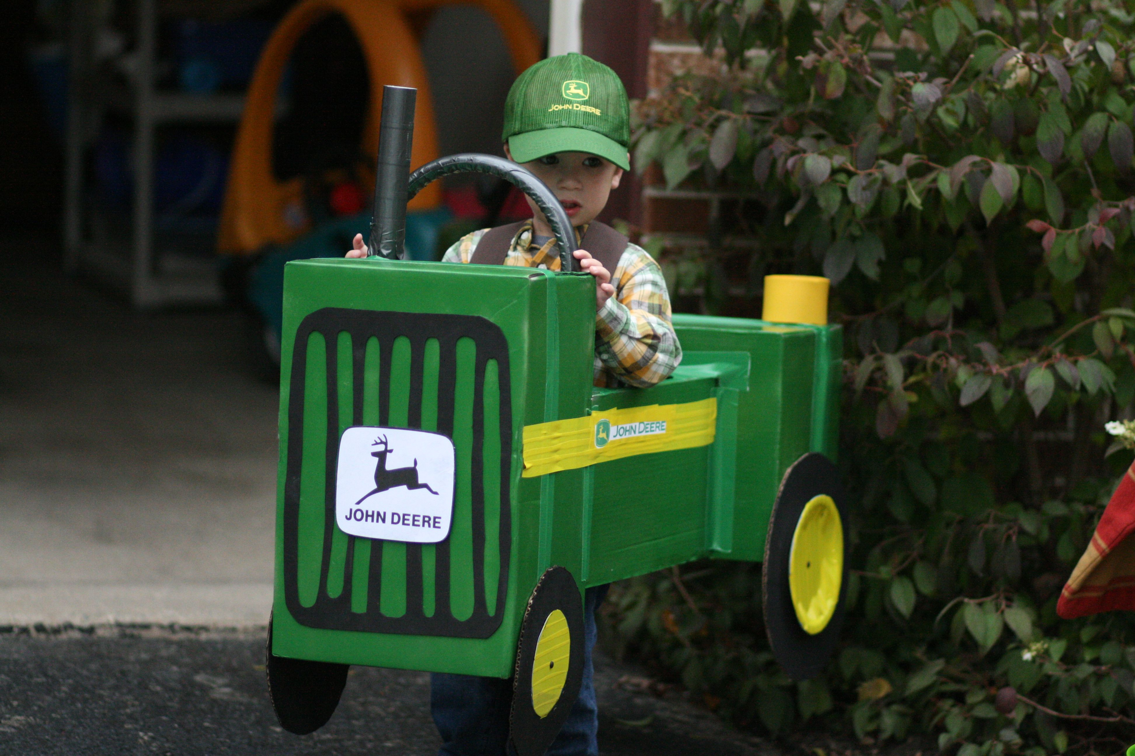 john deere tractor halloween costume i made for my nephew. | kid at
