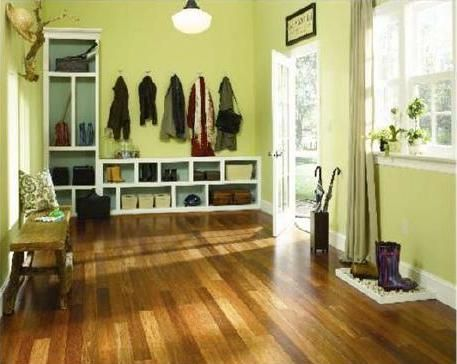 Bamboo Floor Green Walls Engineered Wood Floors