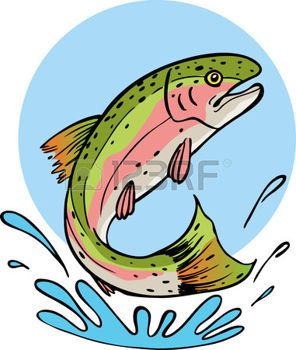 trucha arcoiris im genes de archivo vectores trucha arcoiris fotos rh pinterest com Trout Fish Clip Art Trout Hunters