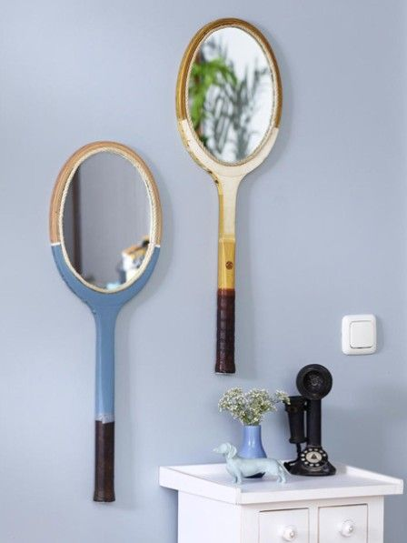 Upcycling: Aus einem Tennisschläger wird ein Spiegel | Aus ...