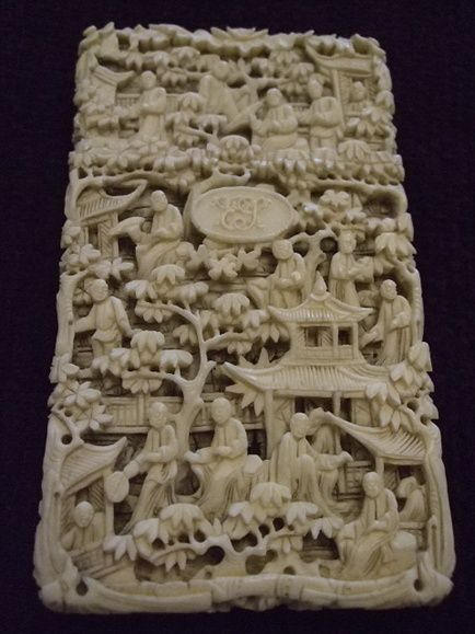 A Carved Chinese Ivory Card Case