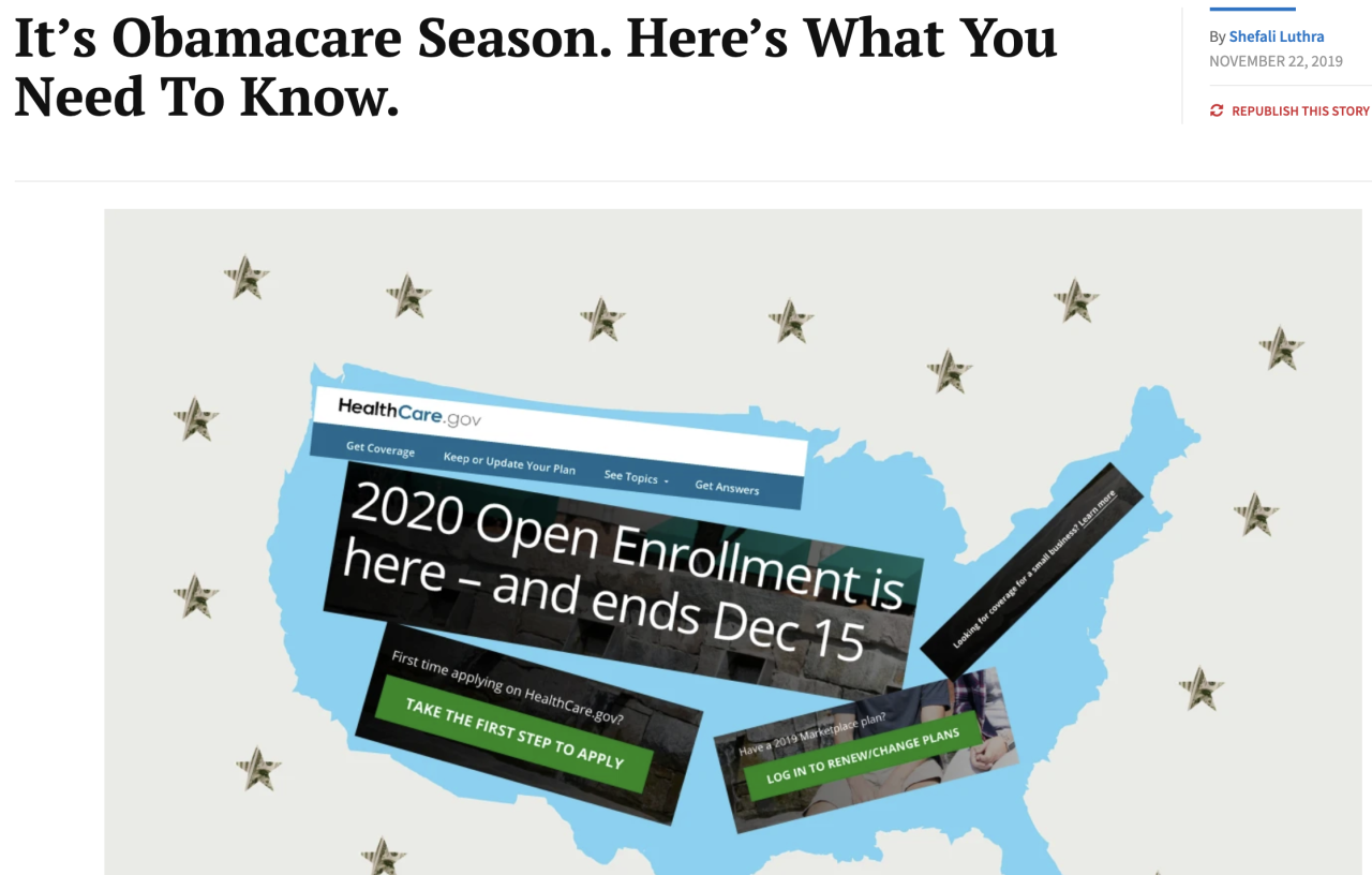 It S Obamacare Season Here S What You Need To Know Via Kaiser