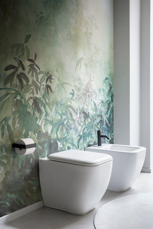 Pin Von Claudia Mattig Auf Tapeten In 2020 Badezimmer Innenausstattung Badezimmer Tapete Badezimmerideen
