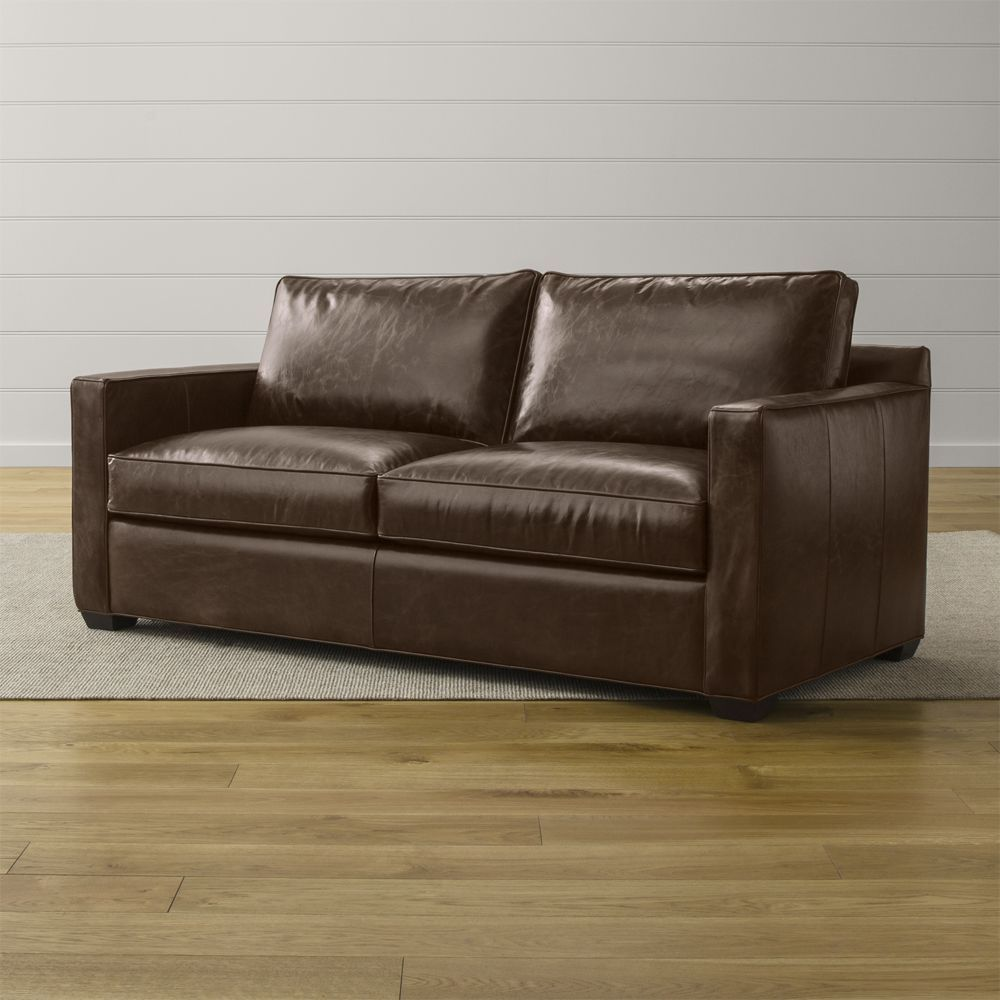 Tremendous Davis Leather Sofa Crate And Barrel Products Leather Gmtry Best Dining Table And Chair Ideas Images Gmtryco
