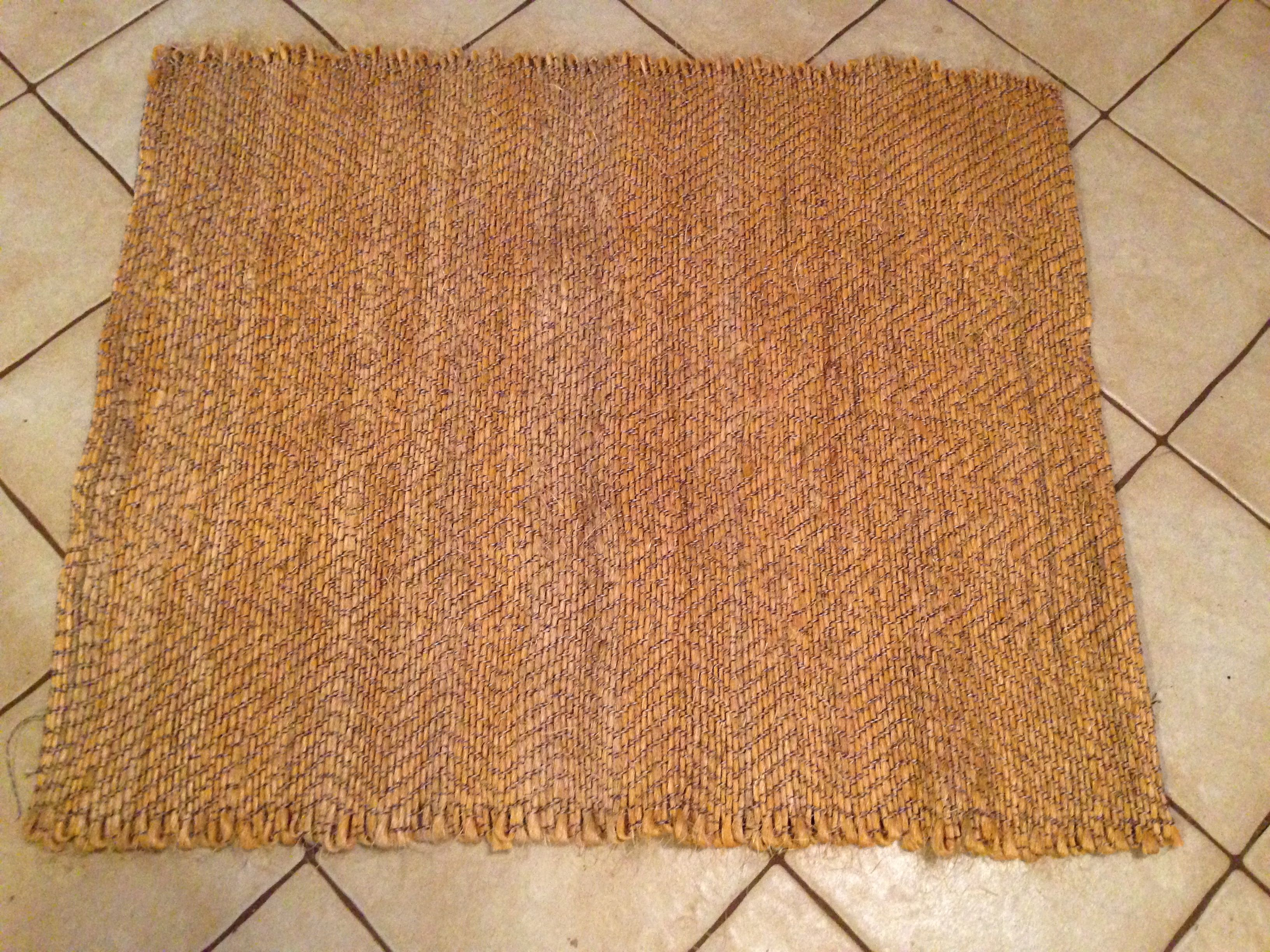 Hand woven door mat made from Recycled Hay