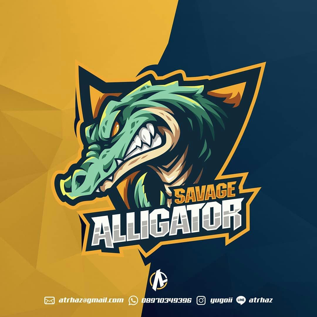 Angry Aligator E Sports Mascot Logo Best Game Graphic Design Top