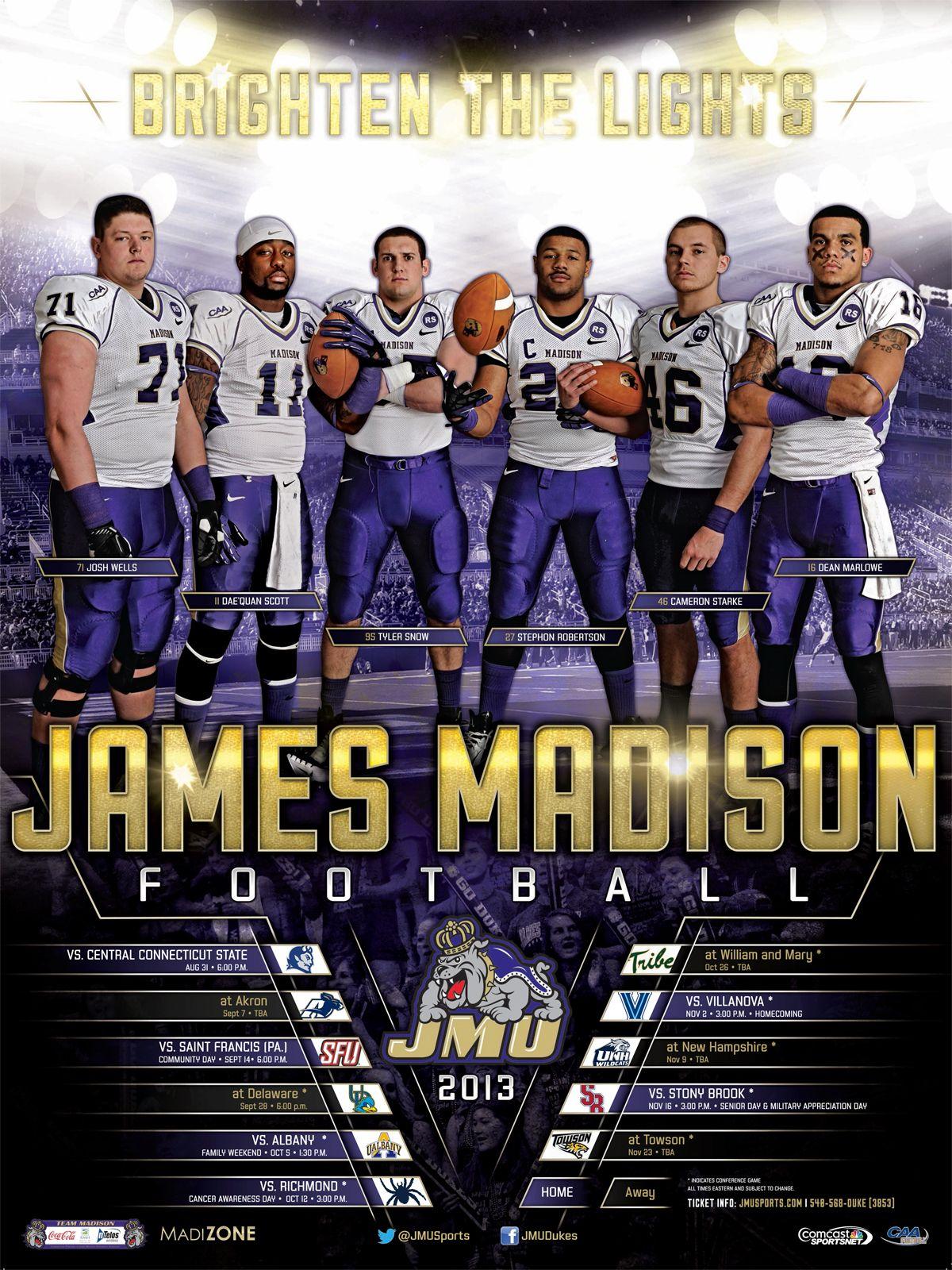 james madison football roster