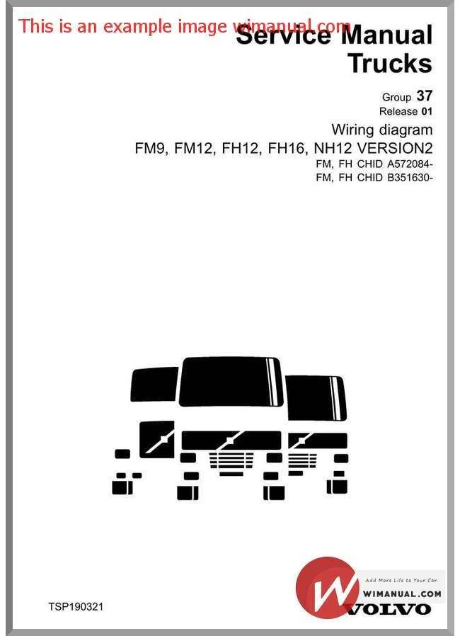 Volvo Truck Fm9 Fm12 Fh12 Fh15 Nh12 Version 2 Wiring Diagram Chid A572084