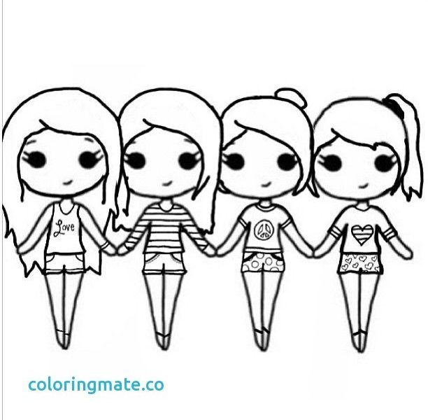 Cute Bff Popular Easy Coloring Pages For Girls Find Gallery
