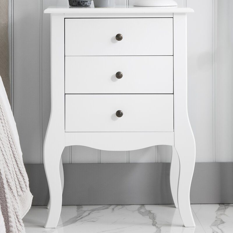 0705c3f5ff06 Camille 3 Drawer Bedside Table in 2019 | What to buy for the house ...