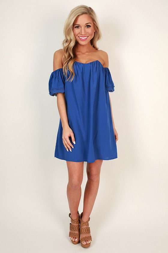 80b690c832c2 Sunkissed Shoulders Shift Dress in Royal Blue | Spring Style Guide ...