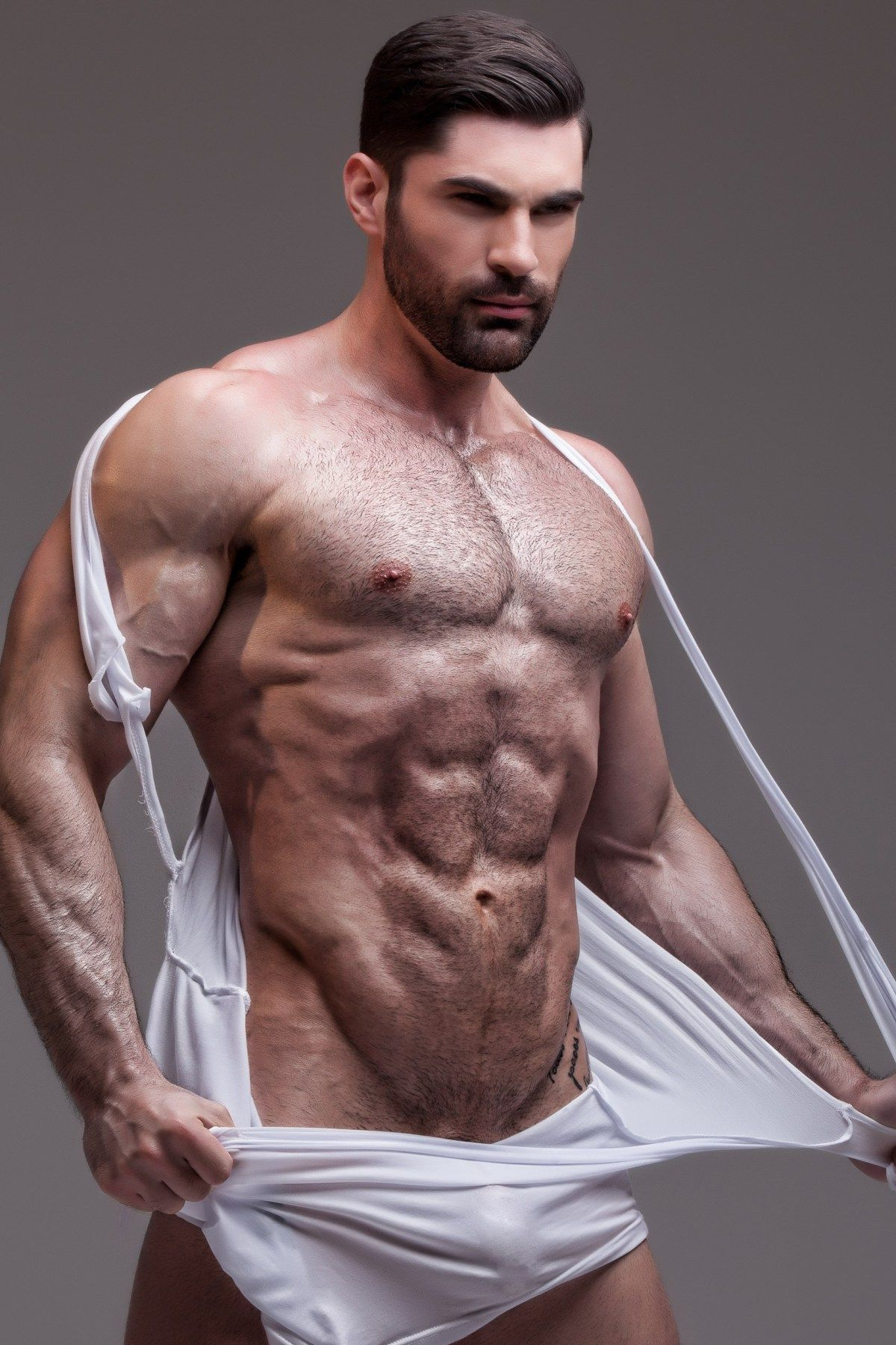 hairy delivery men nude