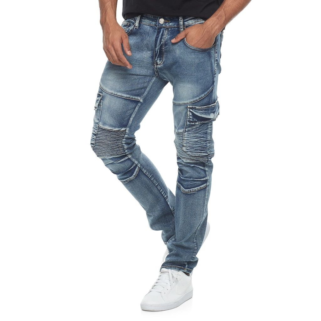 Herren Cargo Jogger Chino Stretch Hosen Denim Jogging Destroyed Jeanshose Skinny