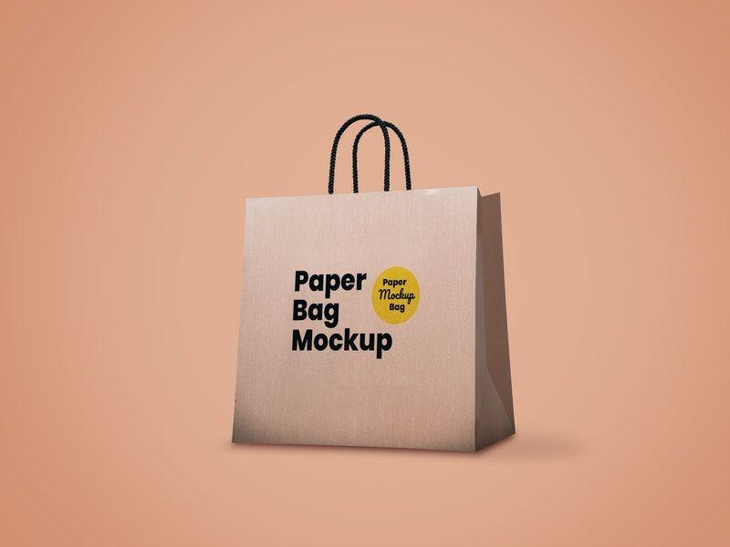 Download Free Paper Bag Mockup Psd Bag Mockup Paper Mockup
