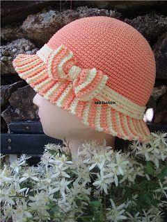d555f4681ee24 Croche pro Bebe  Gorros e chapeu em croche lindos de Viver ...