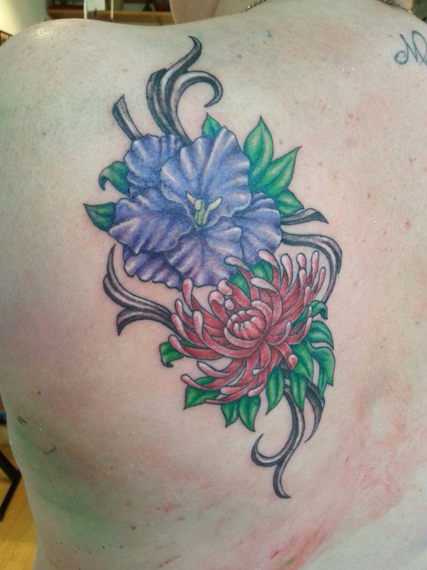 710 ink. Tattoo. November and August birth flower Birth