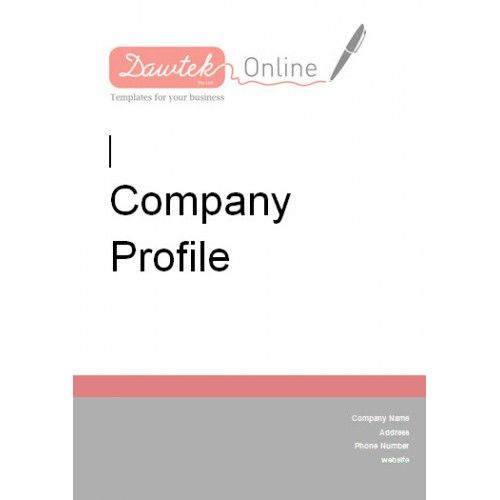 17 Best images about Company Profile Templates – Company Profile Template Word