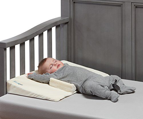 Hiccapop Baby Crib Wedge With Anti Roll Pillow Bumpers