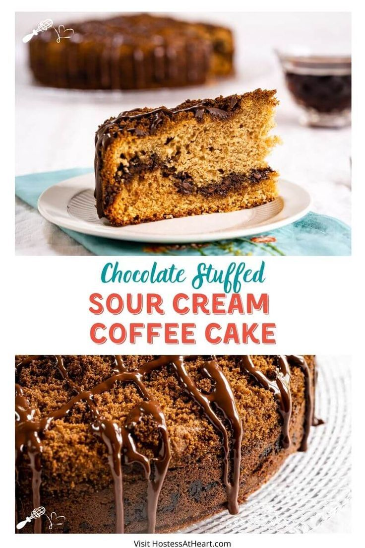 Chocolate coffee cake with sour cream in 2020 chocolate