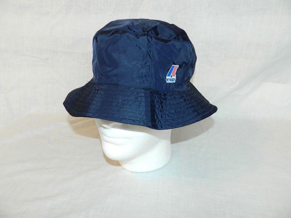 K-Way Navy Blue Packable water wind proof Bucket hat 08   Medium New Kway   KWay  Bucket 325c6acfddc