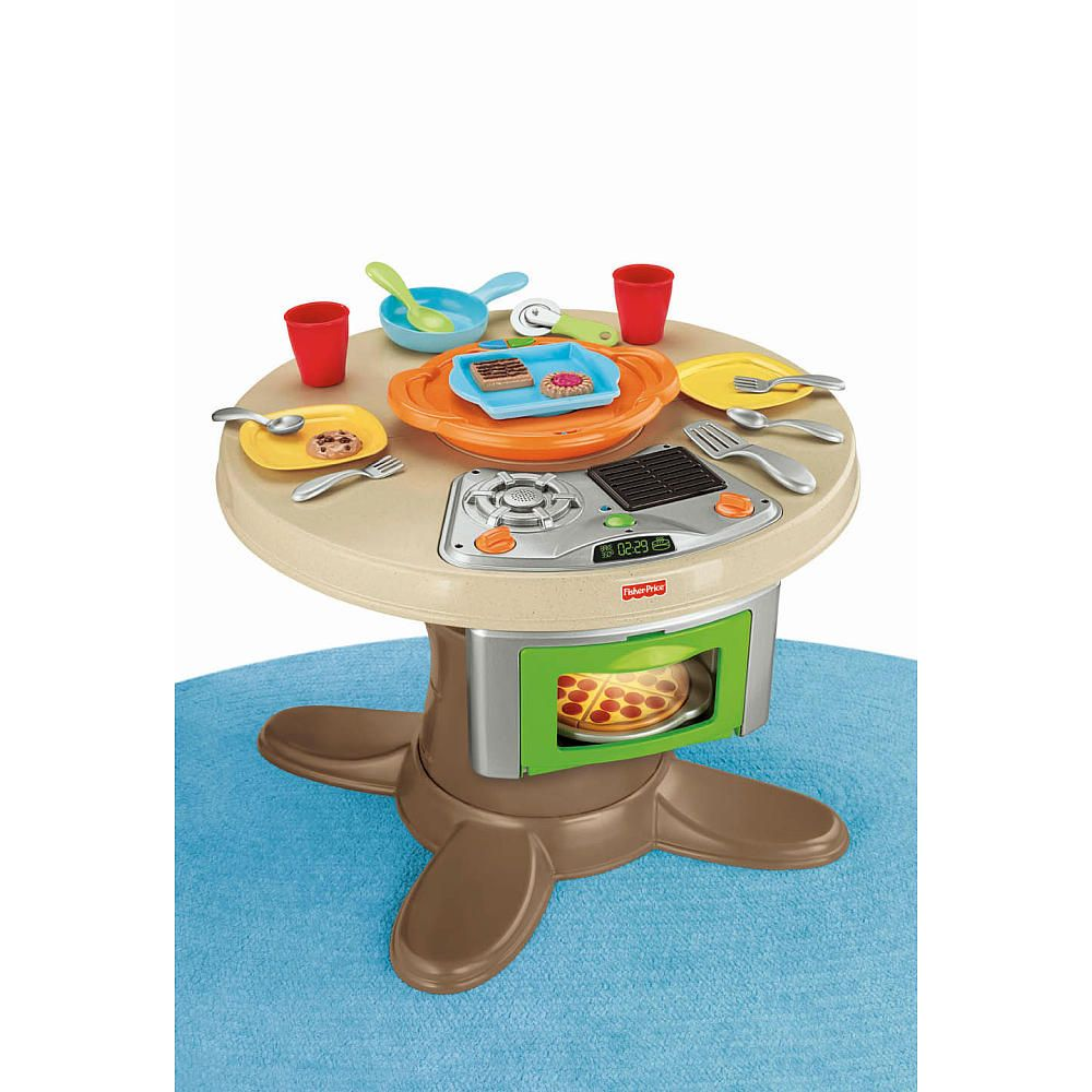Fisher-Price Servin\' Surprises Cook \'n Serve Kitchen and Table Set ...