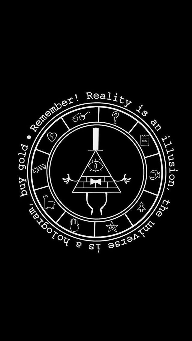 Gravity Falls Wallpaper Bill Cipher Quotes Poster