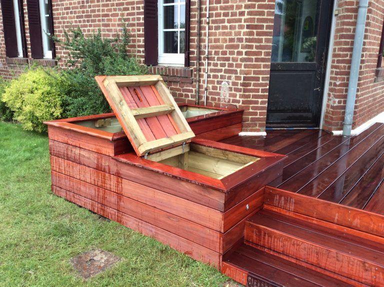 terrasse-ferme-08 Jardin Pinterest Ferme, Terrasses et Jardins - terrasse bois avec bassin