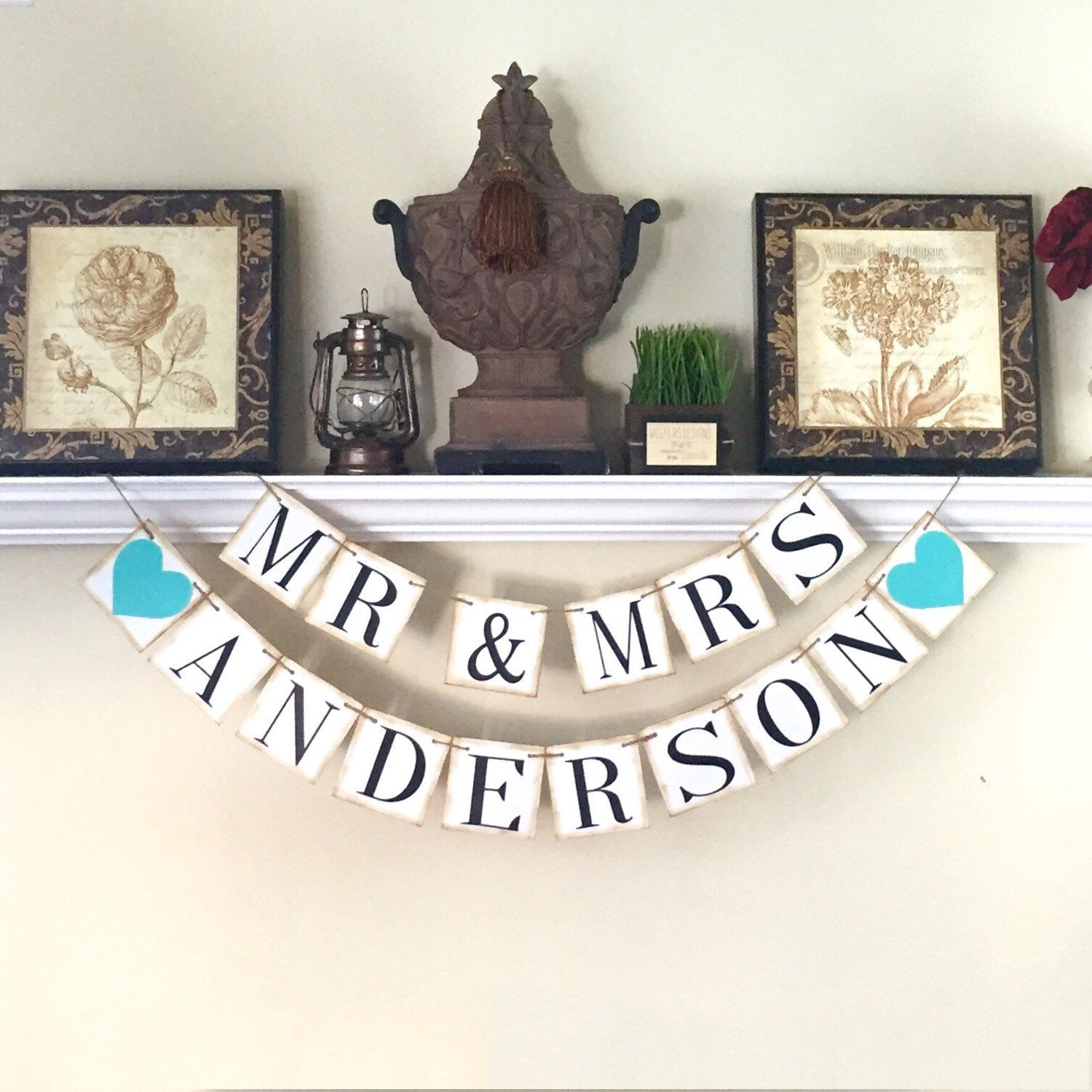 Mr And Mrs Banner Rustic Sweetheart Table Wedding Background Photo Prop