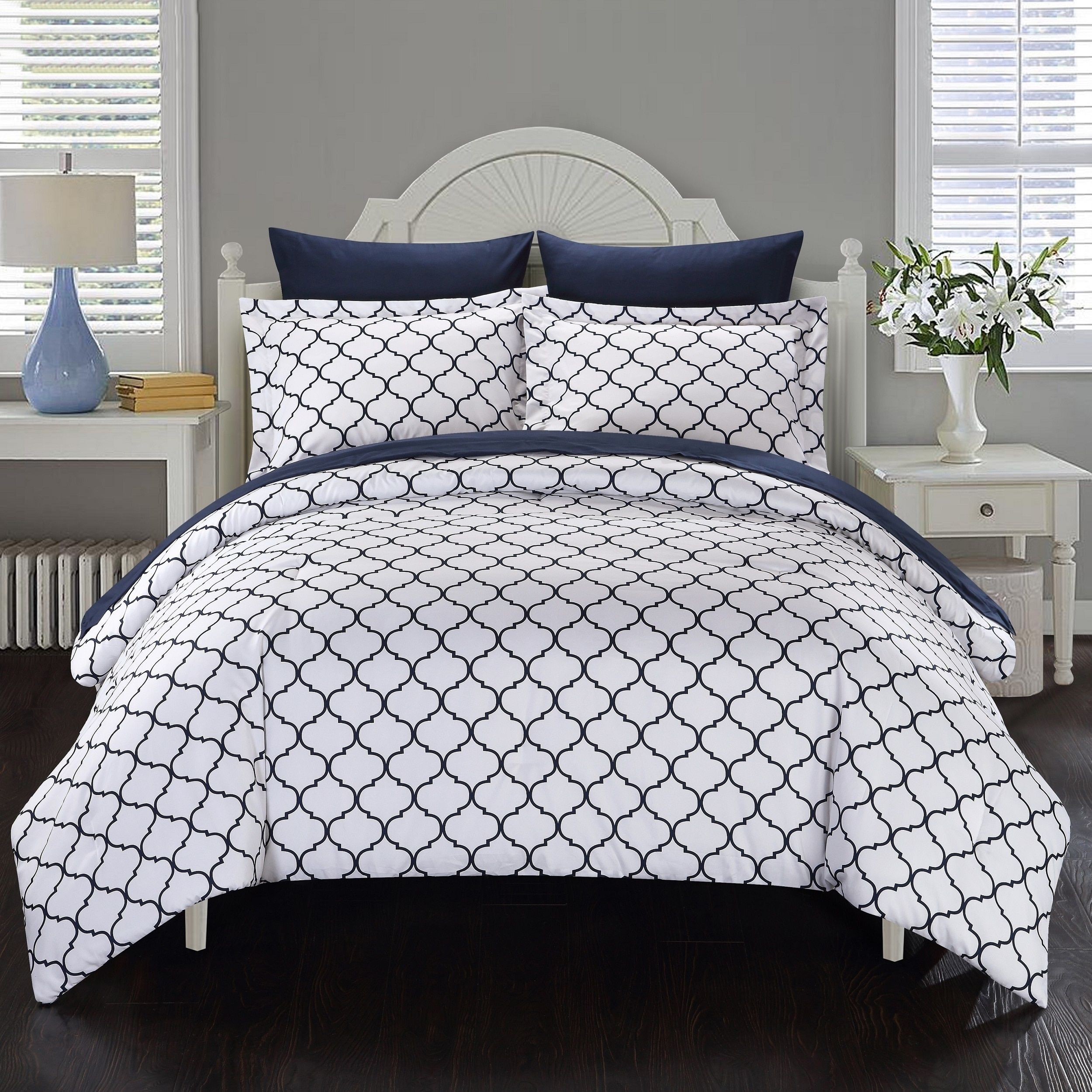 Navy and White forter Set Bedding GIFT IDEAS