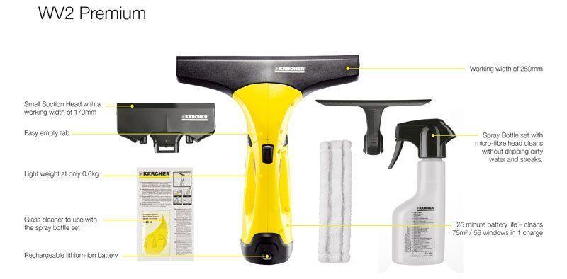 Karcher Wv2 Premium 2nd Generation Window Vacuum Cleaner Review Vacuum Cleaner Reviews Window Cleaner Flat Decor