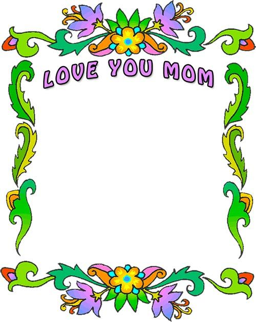 Mother Clip Art Border - Clipart Vector Design \u2022 - 's day borders