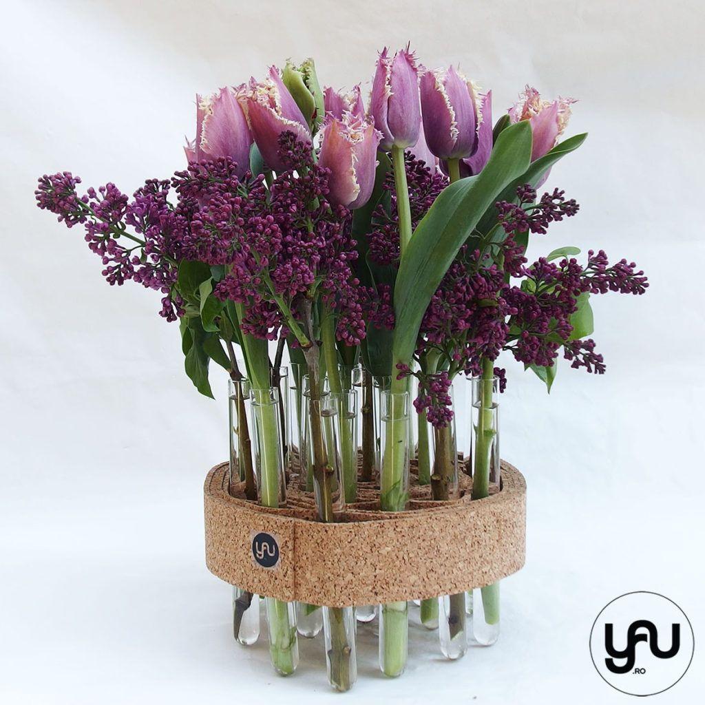 Liliac si Lalele, aranjament floral pentru masa de PASTE | YaU Concept BLOG