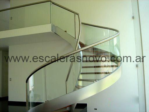 escalera caracol de vidrio n