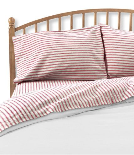 Ll Bean Used To Make These Red Ticking Stripe Sheets And I