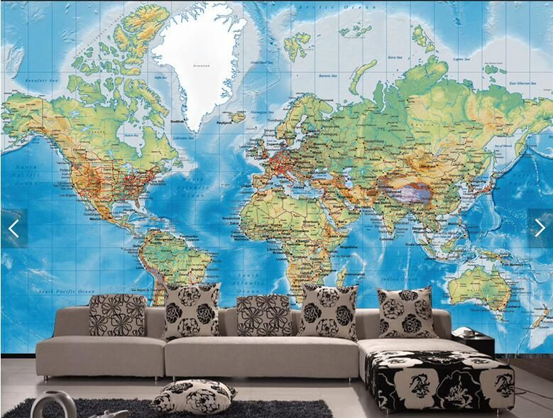 Free shipping buy best customize 3d detailed world map wallpaper free shipping buy best customize 3d detailed world map wallpaper mural gumiabroncs Images