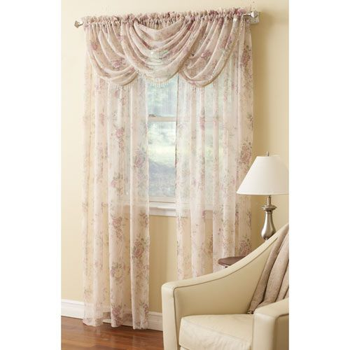 Laura Ashley Stowe Rod Pocket Curtain Panel Sheer Curtain