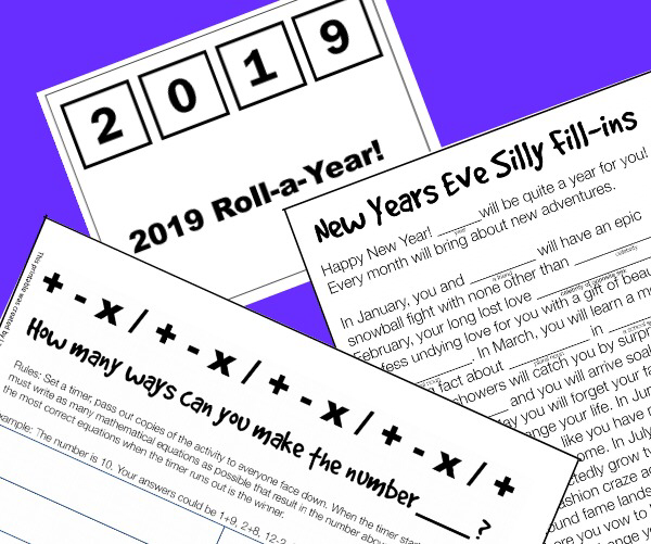 3 Super Fun New Year's Eve Printables for Kids #nailnewyears