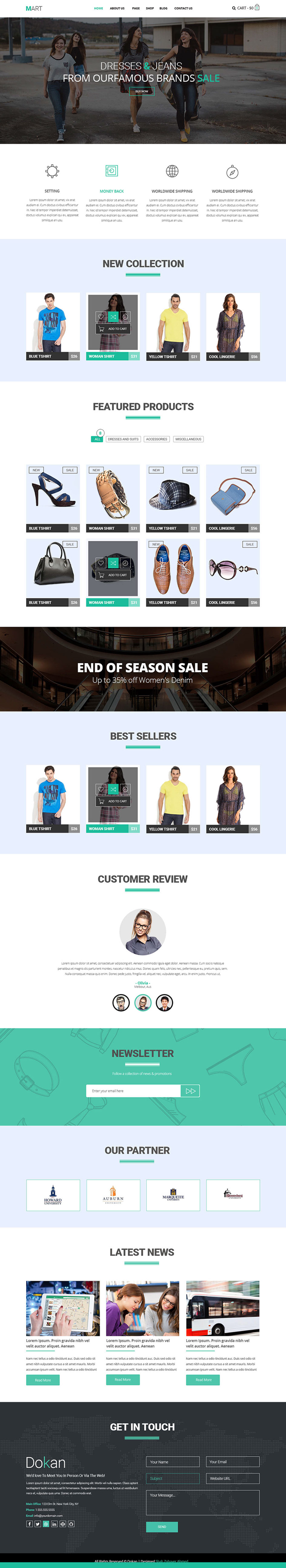 Website Templates Free Mart  Ecommerce Website Template Free Psd & Html  Psd Templates