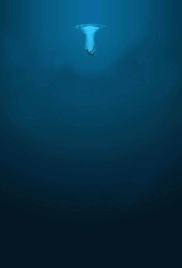 The ocean. Dark and mysterious