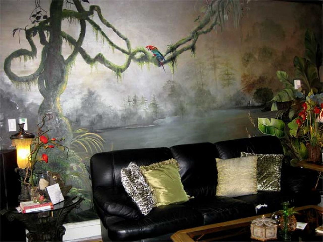 Safari Decorations For Living Room | Beautiful Living Room Wall Murals Jungle  Theme Decorating